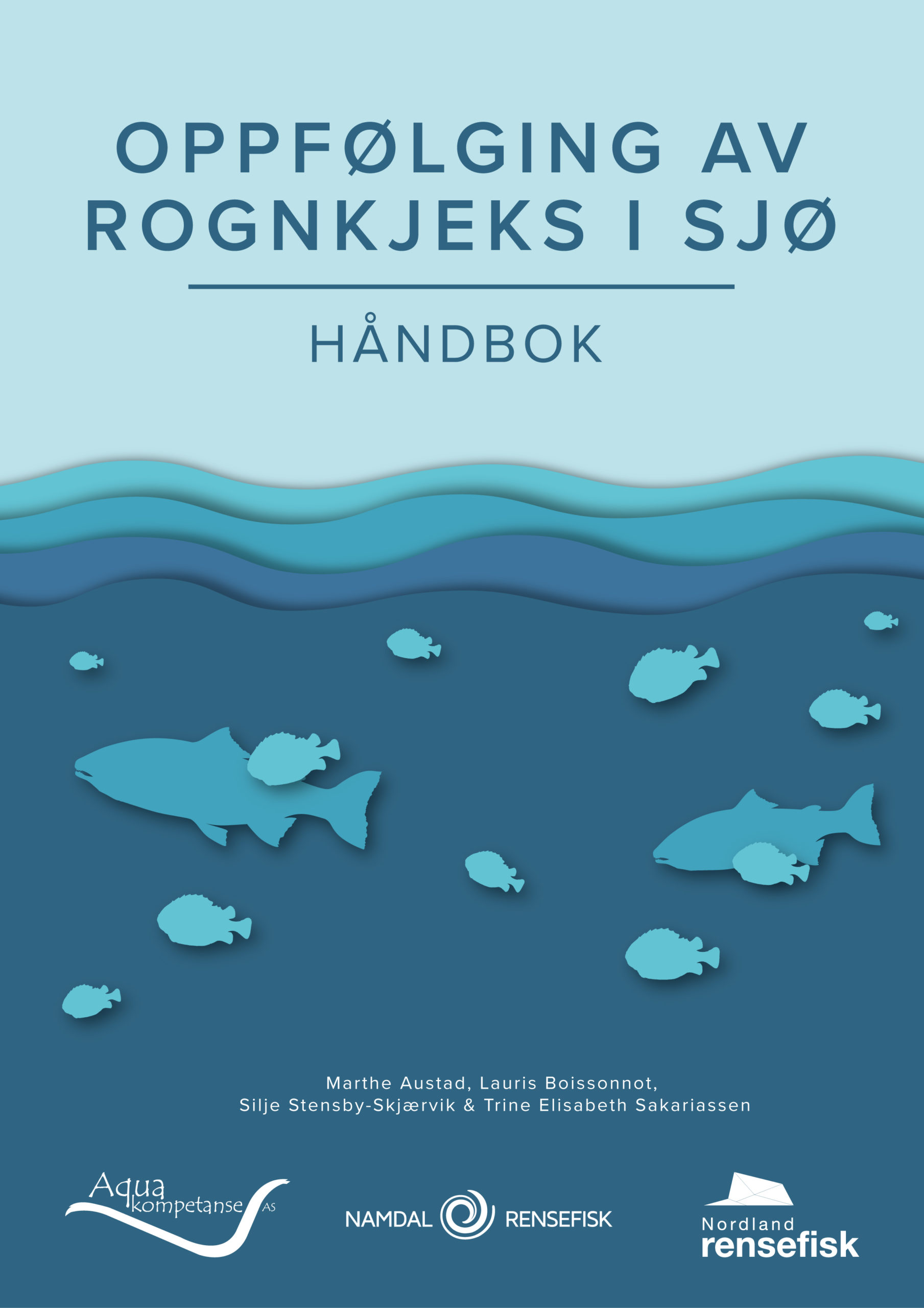 Illustrasjon av fisk som svømmer under vann